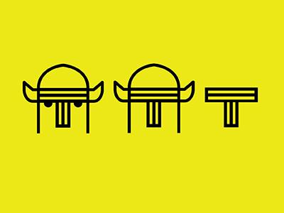 Logo Explores line helmet viking