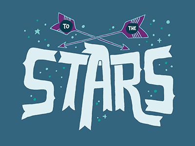 Ad Astra stars night lettering