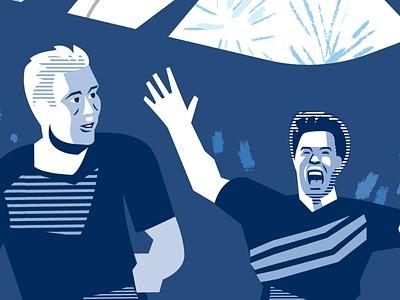 Conrad and Prezi illustration soccer sporting kc