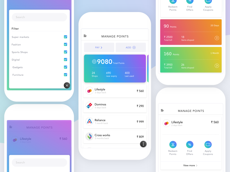 Trusted circle new gradient colors app desin interaction ios mobile ui ux