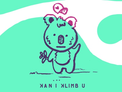 Koa Wants To Klimb comic koala cute character animal character design