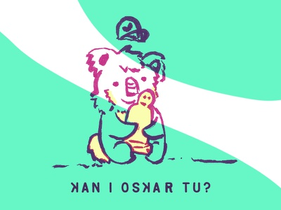 Koa and Oskar character design animal character cute koala comic hollywood awards leo leonardo oscars