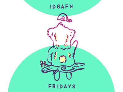 Koa No Fs Given apathy idgaf weekend fridays chores character design animal character cute koala comic
