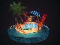 Surf Island - Environment & Prop Design