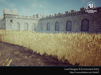 Castle Walkway - Environment Art