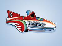 Tin Rocket Racer