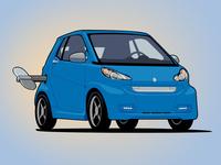 Wind-Up Smart Car