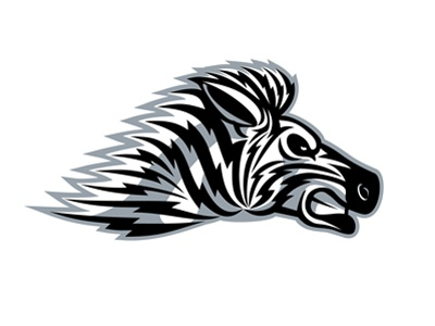 Zebra Mascot zebra stripes speed logo mascot