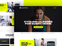 CycleMasters.com cycling yellow interface concept branding website design web ui