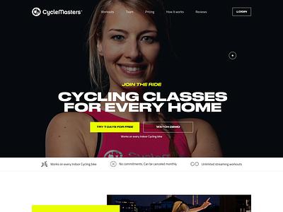 CycleMasters - Home branding sport cycling uidesign visual design website web ui