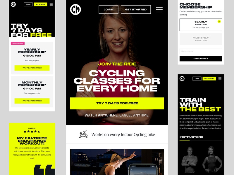 CycleMasters - Mobile branding typogaphy bold responsive mobile website design web ui
