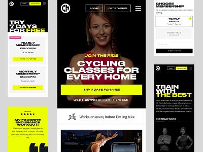 CycleMasters - Mobile branding typogaphy bold responsive mobile website design web ui