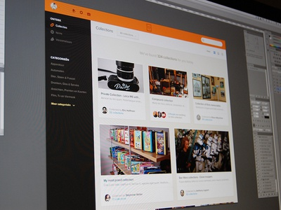 Explore web ui interface collections orange never ending explore