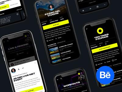 Meet the new Cyclemasters workout casestudy branding website design web ui
