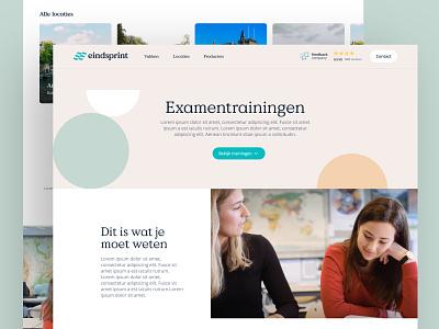 Eindsprint - Examentrainingen concept branding desktop website design web ui
