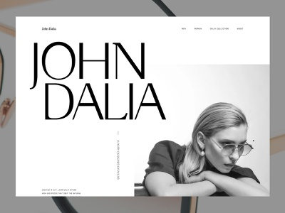 JohnDalia - Home branding layout concept website design web ui