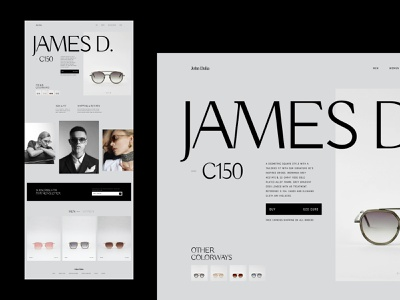 JohnDalia - James typography ux branding layout concept website design web ui