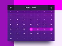 Event Spaces - Calendar