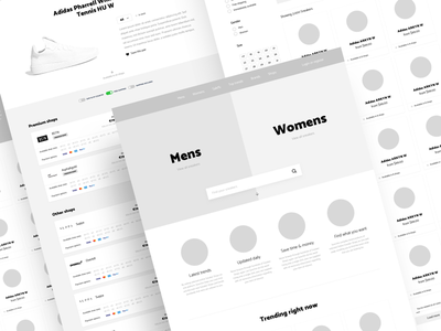 Early stage website web design project concept wireframes ux
