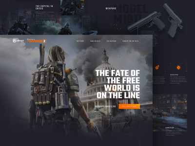 The Division 2 - Concept interface ui design artwork game concept web