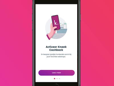 Knaek - Onboarding purple ios uidesign appdesign app onboarding illustration layout interface design ui