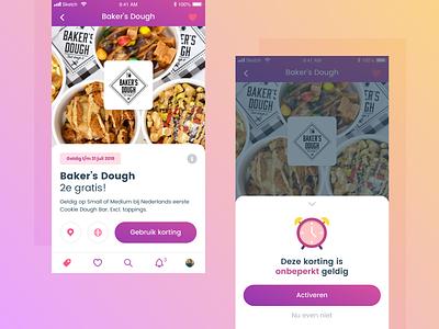 Knaek - Discount white purple mobile ios appdesign app clean interface design ui