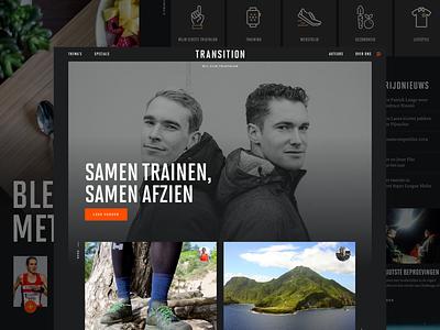 Transition - Homepage dark magazine websites website design web ui