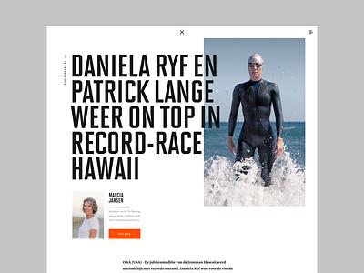 Transition - Article layout dark magazine desktop website design web ui