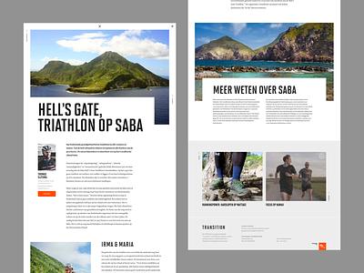 Transition - Special netherlands dark magazine layout desktop website design web ui