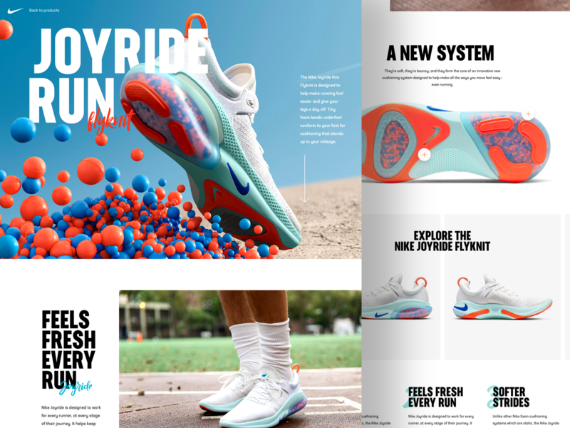 Nike Joyride Run 👟 nike desktop concept white clean website design web ux ui
