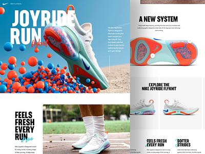 Nike Joyride Run 👟 nike desktop concept white clean website design web ux ui