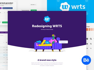 WRTS - Behance Case Study logo branding illustration case study behance portfolio case website design web ui