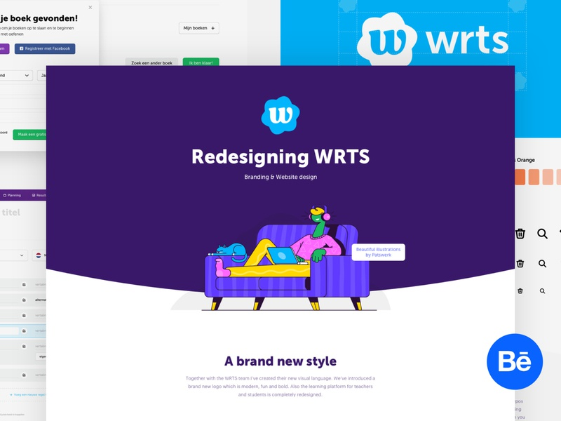 WRTS - Behance Case Study logo branding illustration case study behance portfolio case website design web ui