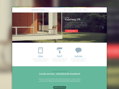 New project layout web ui clean flat green red big picture