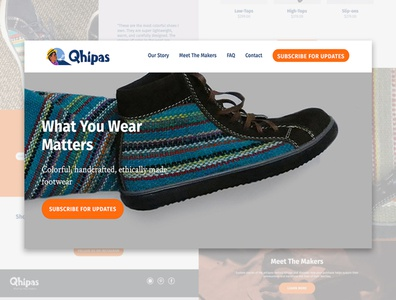 Qhipas Footwear - Website Design
