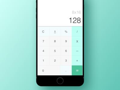 Daily UI #004 - Light Calculator UI