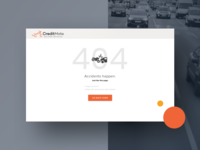 A Simple 404 page for CreditMate