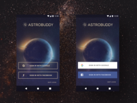 Variation of Sign-In Buttons for Astrobuddy
