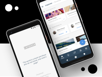 UI Mockups for Layover Social