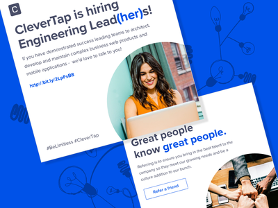 Posts for Hiring - CleverTap typography design visual design typography hiring