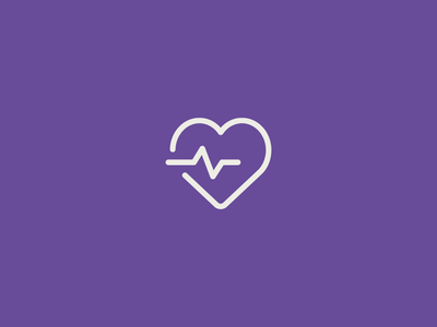 Wellness medical exercise fitness beat heath heart wellness illustration icon