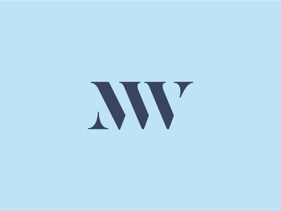 M&W typography identity logo monogram w m