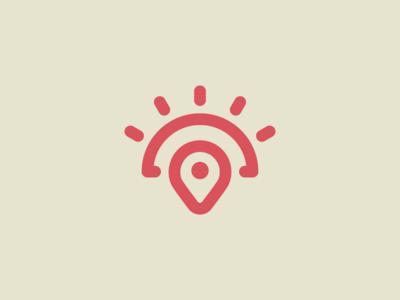 Vacation...? trip vacation sunshine sun location mark icon symbol