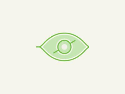 Leaf / Eye watch observe eye nature plant leaf illustration icon