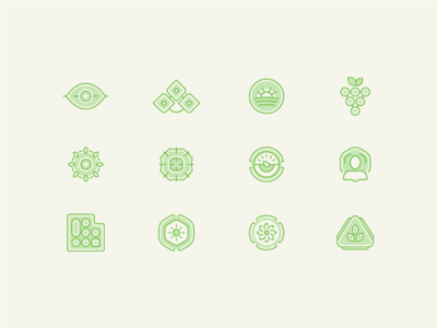 Permaculture Field Manual set icons set environment recycle leaf eye measure produce fruit food plant illustrations field permaculture