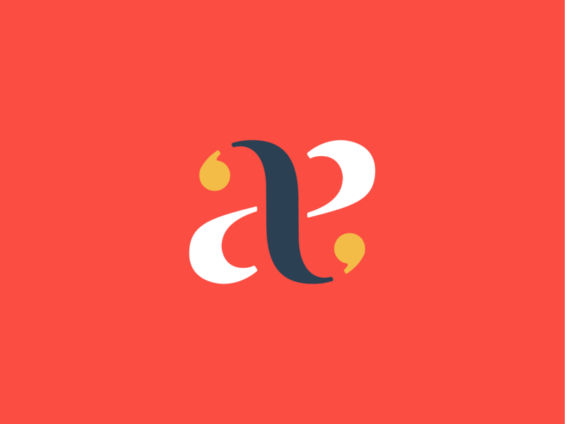 aa a aggregate arsenal monogram typography identity logo