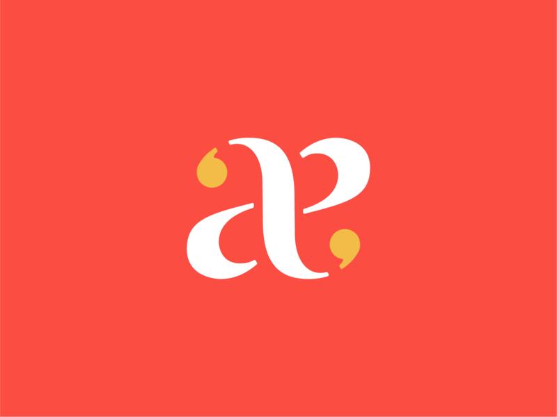 aa, again branding vector sports typography football monogram symbol identity logo icon