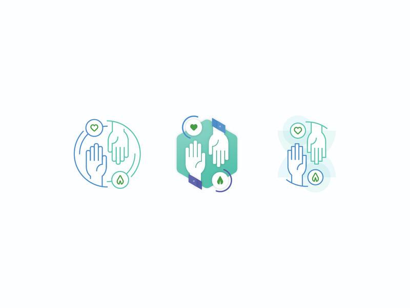 Gather community support gather heart hands illustration icon