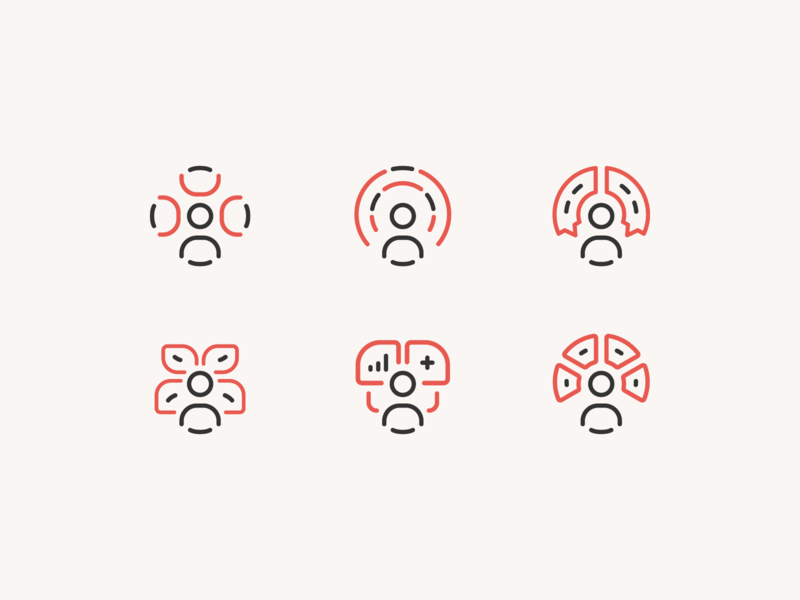 Membership user illustration icon rally save grow engage discover connect member