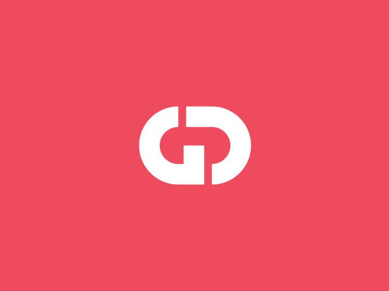 GD gd monogram d g letterform symbol icon logo